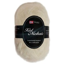 Viking of Norway Kid Mohair Garn Mohairmix 50g Vit 902