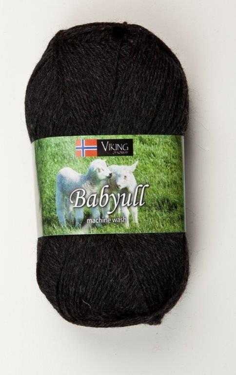 Viking of Norway Baby Ull 50 gr Sort 303