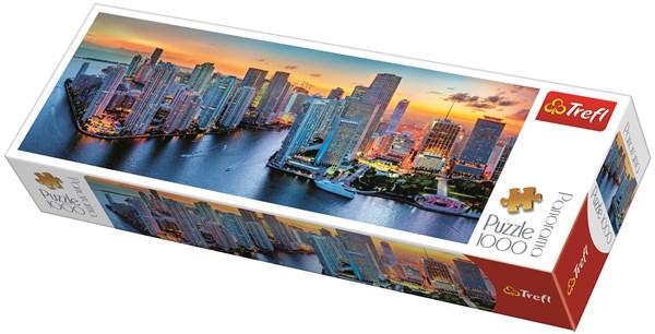 Panorama-puslespill, Miami After Dark, 1000 brikker, Trefl