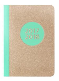 Kalender 2017-2018 Letts Letterpress A5 V/U aqua