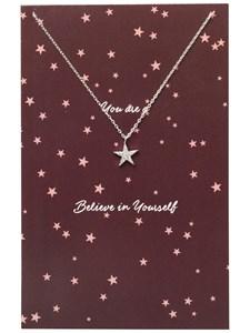 Halsband, Miriam, Star, Silverfärg