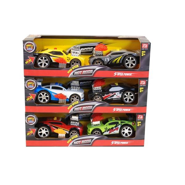 2-pack bilar  17cm  Röd Grön  Summertime - interaktiva leksaker