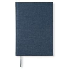 Notatbok A5 Linjert Dark Denim Tekstil 256 sider