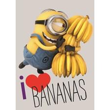 Matta, 95x133 cm, Love bananas, Minions