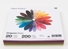 Origamipapper Basicfärger 15x15 cm