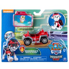 Marshall's Rescue Rover, Minifordon med figur, Mission Paw, Paw Patrol