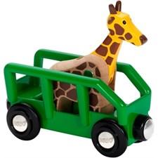 Safarivogn med sjiraff, Brio Trejernbane