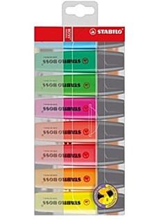 Överstrykningspenna Stabilo Boss Multi 8-pack