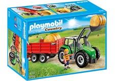 Stor Traktor med trailer, Playmobil Country Life (6130)
