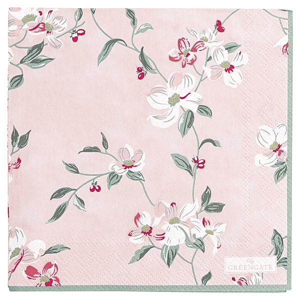 gröngate Servett Jolie 20-pack 25x25 cm rosa (rosa) - grytlappar