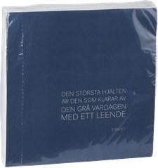 ERNST Servetti Sitaatilla 40 x 40 cm Sininen