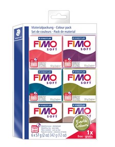 """FIMO® soft Colour-pakkaus """"Warm Colours"""""""