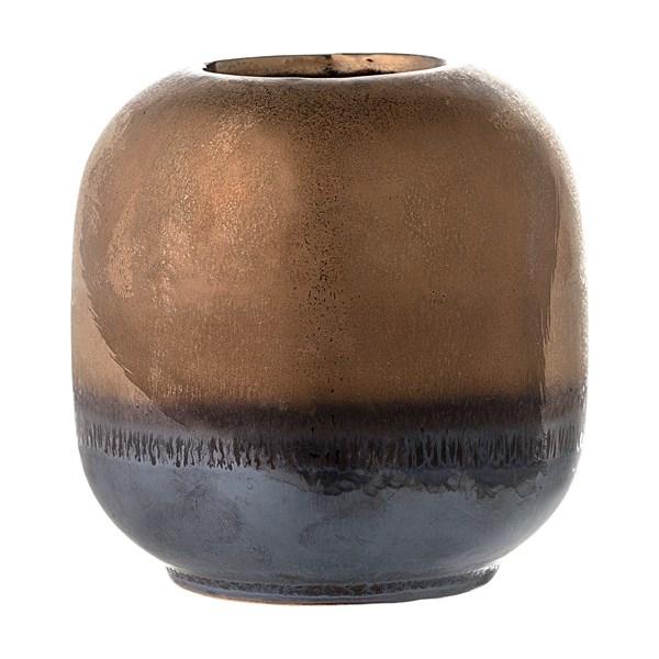 Bloomingville Vas Stengods Diameter 10 5 cm  Höjd 10 5 cm Brons