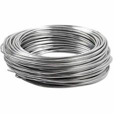 Alumiinilanka, paksuus 3 mm, hopea, pyöreä, 29m