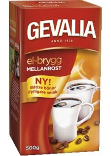 Kaffe El-brygg Mellanrost 500 g Bryggmalet