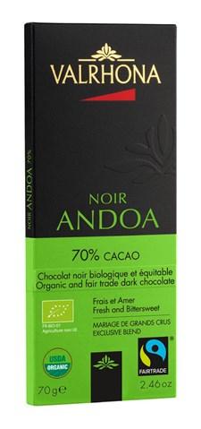 Valrhona Choklad Andoa Noir 70% 70 g