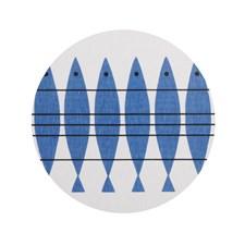 Almedahls Sill Grytunderlägg 21 cm Blå