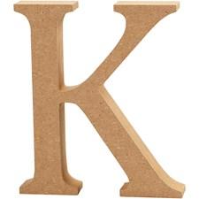 Bokstav, K, H: 13 cm, tykkelse 2 cm, MDF, 1stk.