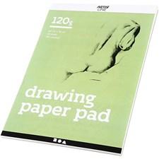 Piirustuslehtiö, A4 210x297 mm, 120 g, 30 ark, valkoinen