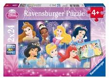 Disney Princess, puslespill, 2 x 24 brikker, Ravensburger