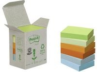 Notater POST-IT 100 % resirkulert 38x51 mm (6)