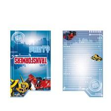 Transformers inbjudningskort, 8 st