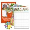 Väggkalender 18-19 Burde Familjekalender med stickers