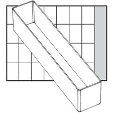 Säilytyslokero, koko 218x39 mm, kork. 47 mm, 1 kpl