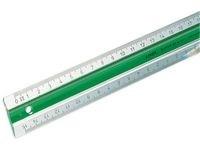Kontorslinjal 20 cm Vit/Grön