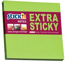 Neonblokk Extra Stick'n 76x76 grønn 90 Blad