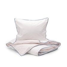Sköna Hem Two fold Påslakanset i Tvättad Bomullspercale 150x200 cm Light pink/Pink