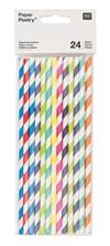 Papperssugrör Mix Flerfärgad 24 st