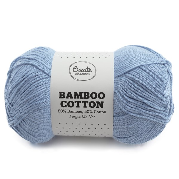 Adlibris Bamboo Cotton, 100 g, Forget Me Not A535