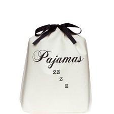 Bag-all Pajamas ZZZ Kangaskassi 100% Puuvilla 33x31x6 cm Musta/Valkoinen