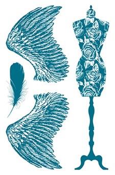 Silikonstämpel Vingar 10x18,5 cm