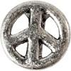 Leddperle, str. 11x15 mm, hullstr. 5x10 mm, antikk sølv, 3stk.