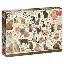 Puslespill, Cats Poster, 1000 brikker, Jumbo