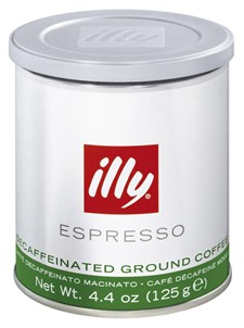 Illy Kaffe Espresso Malet Koffeinfri 125 g