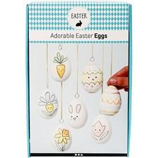 Fine påske egg, vannfargedekorasjon, 1sett
