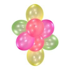 Neonfärgade ballonger, 10 st
