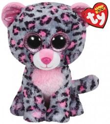 TY Tasha, Grå leopard, 23 cm