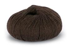 Du store Alpakka Mini Sterk Garn Ullmix 50 g Mørk Brun 810
