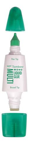 Tombow Multi nestemäinen liima 25ml, kaksi liimauspäätä (kapea ja leveä), blister
