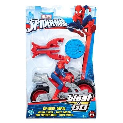 Spiderman med motorcykel  Blast N' Go Racer   Marvel - actionfigurer