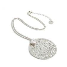 Spinn Big crystal Halsband 42 cm silver