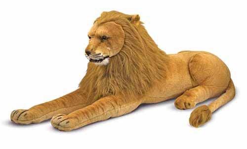 Lejon  Stort mjukisdjur  Melissa & Doug - gosedjur