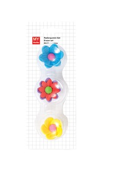 Suddgum 3D Blommor 3x3 cm 3 st