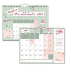 Väggkalender 2019 Burde Familjens månadskalender