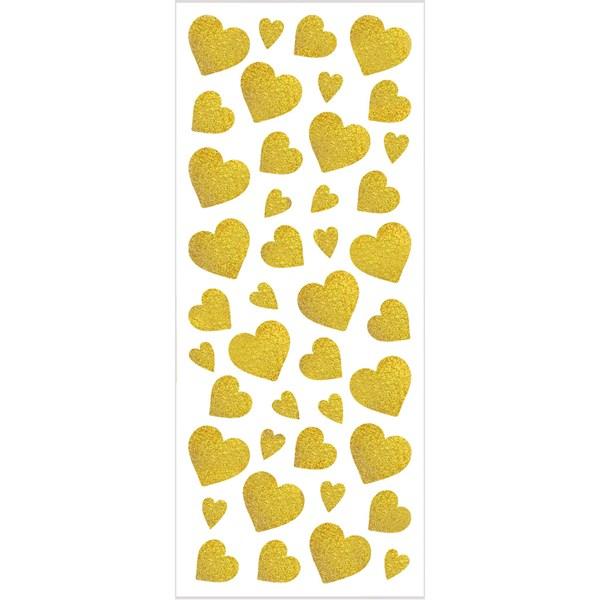 Glitterstickers, 10x24 cm, ca. 84 st., 2 ark, guld