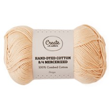 Adlibris Cotton 8/4 Hand-dyed Mercerized 50g Beige A394
